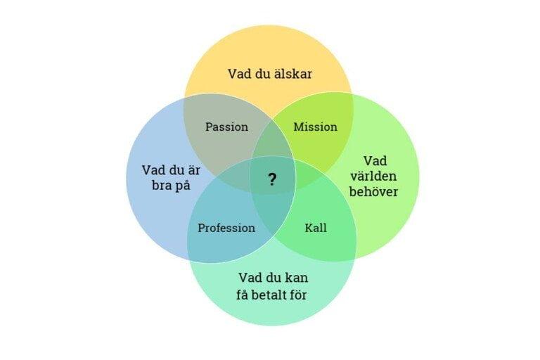 Venndiagrammet som inte är ikigai
